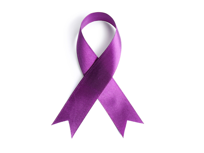 Cancer ribbon for the fight against cancer