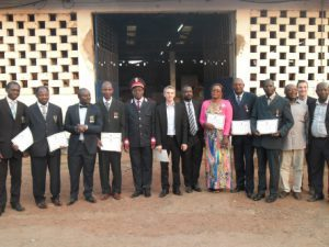 Staff of AGS Cameroon receiving price
