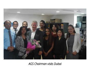 AGS employees with Alain Taïeb in Dubai