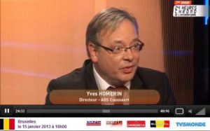 Yves Homerin - Manager of AGS Coussaert, interviewed on TV
