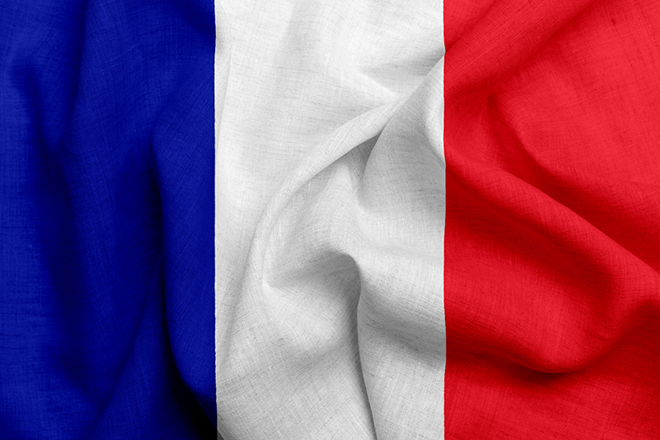 French flag Blue-White-Red