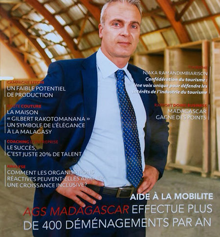 Fabris Grujic en couverture du magazine L'Express de Madagascar Business