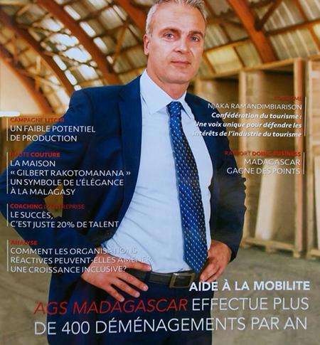 Fabris Grujic en couverture du magazine L'Express de Madagascar Business