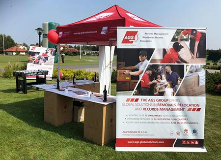 AGS Movers Warsaw stand at the 9th International Family Picnic on Sunday, 02 September 2018.