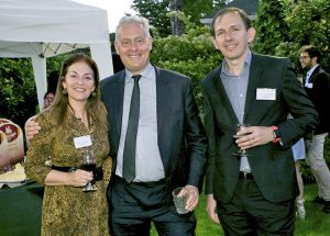 Concha Carrasco, Simon Manley, British Ambassador and Guillermo Nagore Ferrer.
