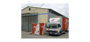 Container and AGS truck Belgrade
