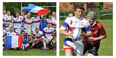 The rugby team of the French Army won against the english militaries