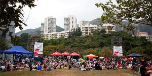 Picnic in a park in Hong Kong