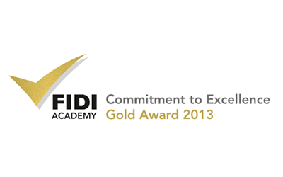FIDI Academy Gold award logo