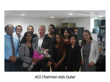 AGS employees with Alain Taïeb in Dubai