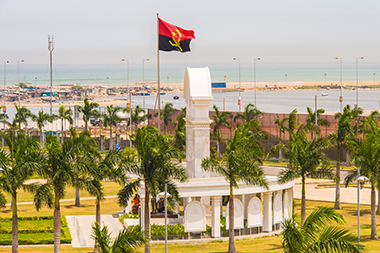 The national assembly building in Angola.