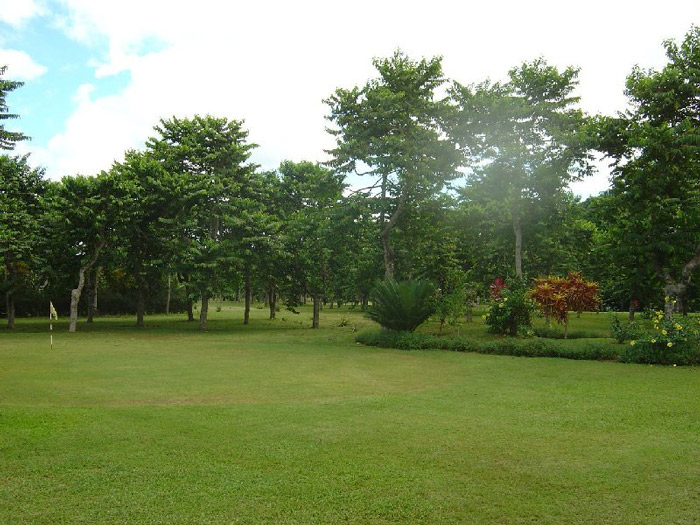 Golf field in Combani, Mayotte