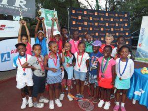 Kids posing in Botswana