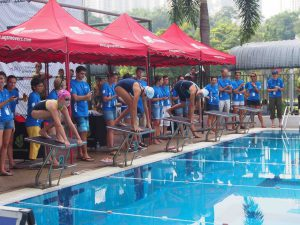 Swimming competition for girls