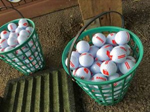 Golf balls AGS in a basket