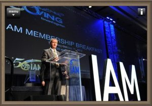 Alain Taïeb giving a speech at the 50th IAM annual meeting.