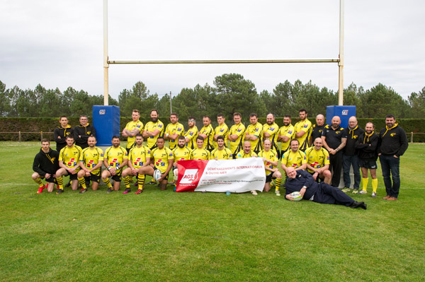 Rugby team Tarbes partnership with AGS