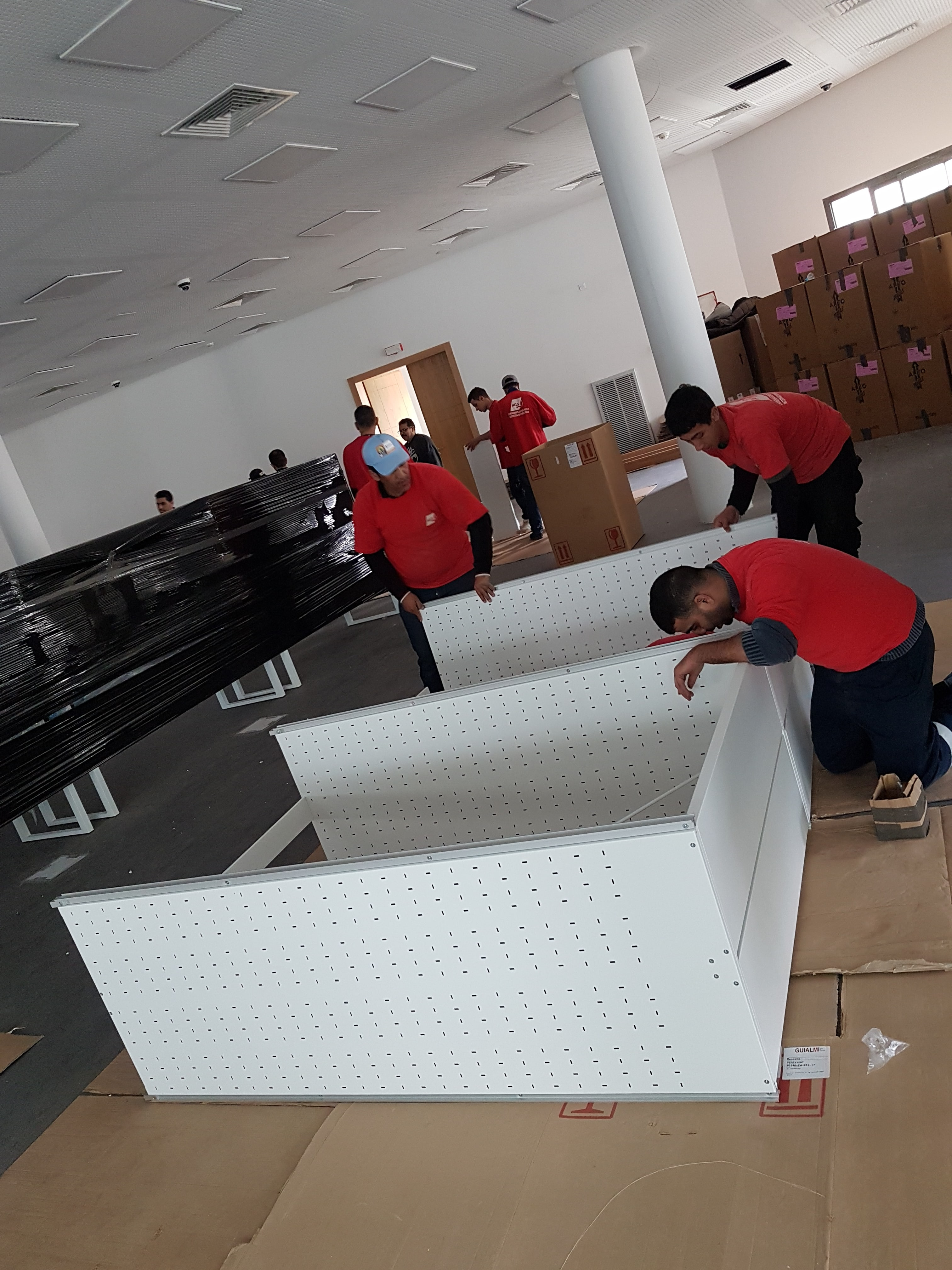 AGS Movers team assembling furniture.