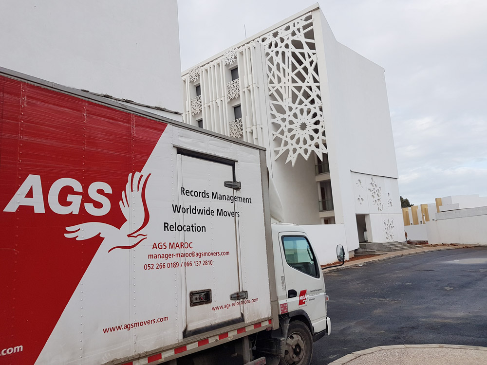 AGS Movers truck in Morocco.