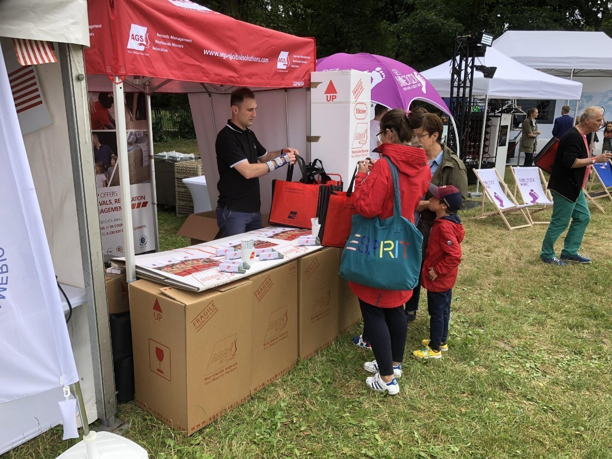 AGS Movers booth at the Independance Day Picnic in Poland.